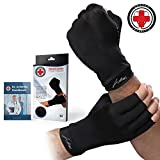 Doctor Developed Copper Compression Arthritis Gloves For Arthritis - BONUS: FREE Dr. Arthritis Handbook- Relieve Arthritis Symptoms, Reduce Inflammation & Enhance Recovery (S)