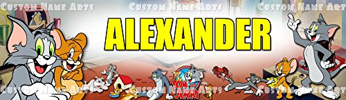 Personalized Tom And Jerry Custom Banner Name Painting Wall Decor Home Poster