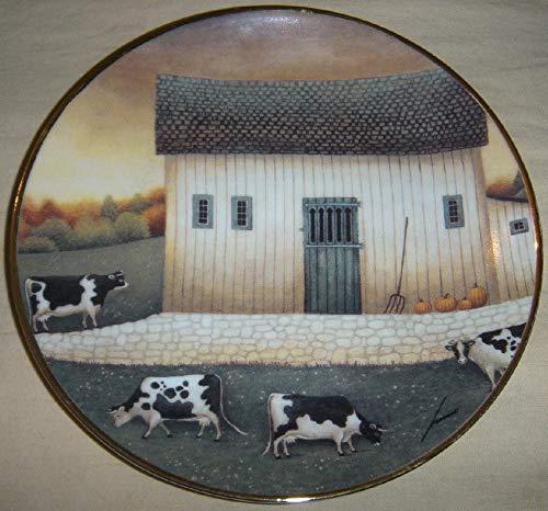 - Autumn GRAZING Lowell Herrero The American Folk Art Collection Cows Fine Porcelain Decorative Plate