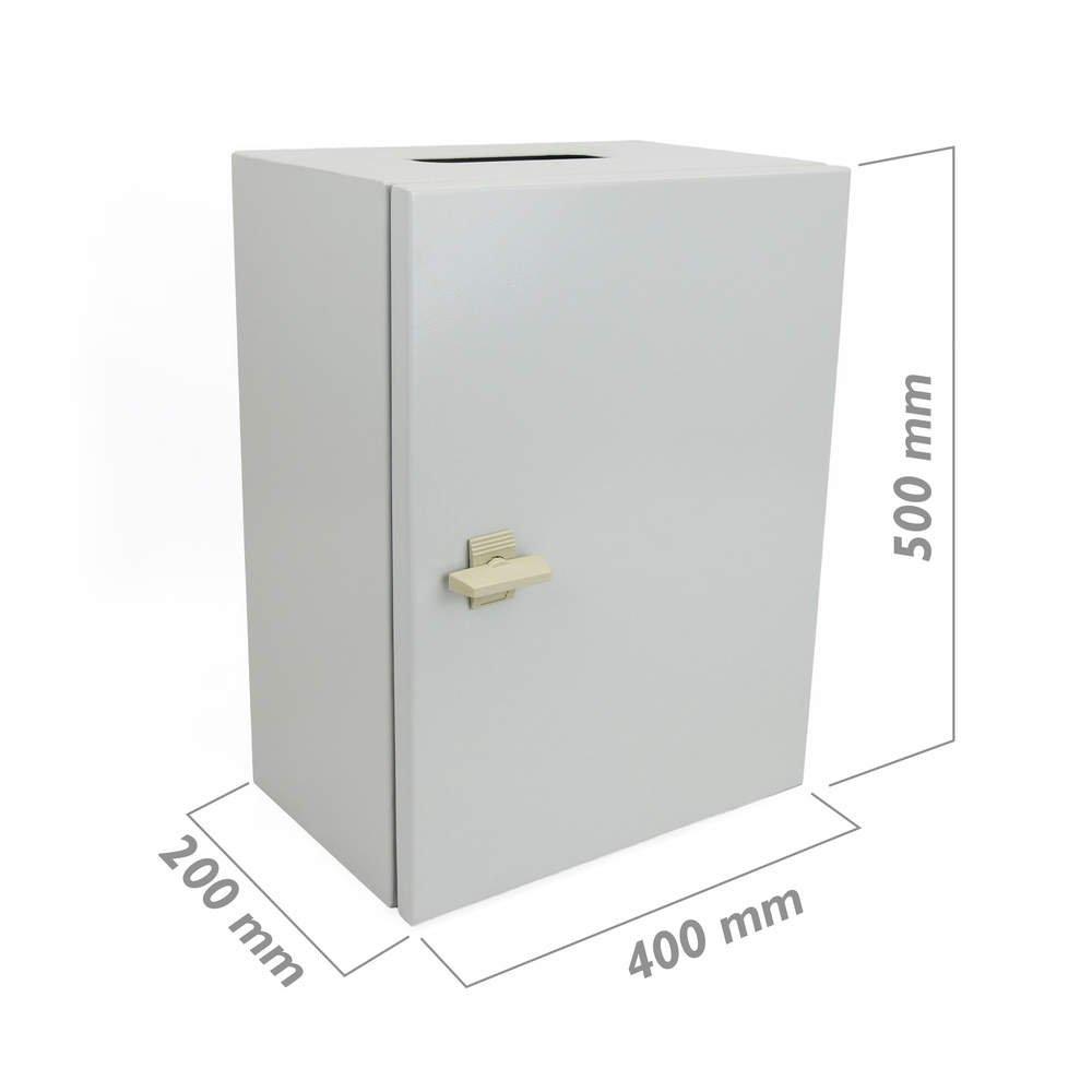 Cablematic - Caja de distribució n elé ctrica de Metal IP65 para Pared, 400 x 500 x 200 mm 400x 500x 200mm Cablematic.com PN23021518200125099