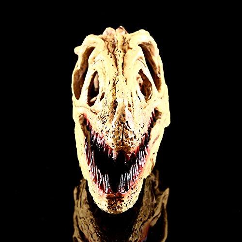 Esculturas de Cabeza Cr/áneo de Dinosaurio Raptor Modelo Resina Colecci/ón Decoraci/ón Barra Bar Rojos WHT