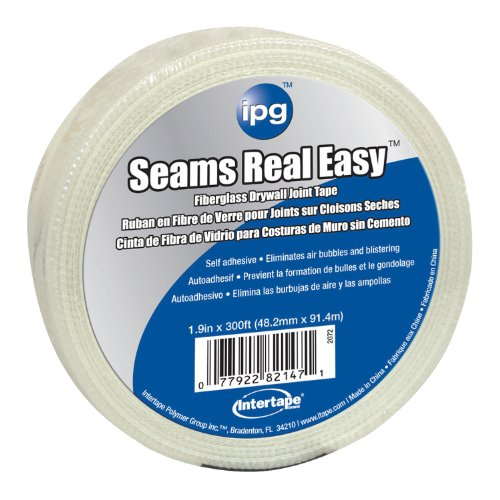 Intertape Polymer Group 2072 Seams Real Easy Drywall Fiberglass Mesh Joint Tape, 1.9-Inch x 300-Feet (Joint Wallboard)