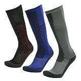 Gmark Unisex Moderate (15-20mmHg) Graduated Compression Football Socks 1-6 Pairs