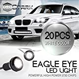 Eagle Eye 18mm 5730SMD High Power LED Fog Light DRL Backup Signal Bulbs - White (20 Pieces)