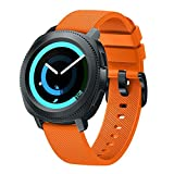 Sinma New Fashion Sports Silicone Replacement Bracelet Watch Strap Band for Samsung Gear S3 Frontier (Orange)