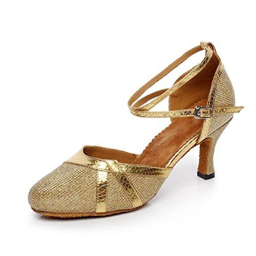 Pompes De Danse De Salon Bcln Womens Chaussures De Soirée Avec 2.75 Talon Or