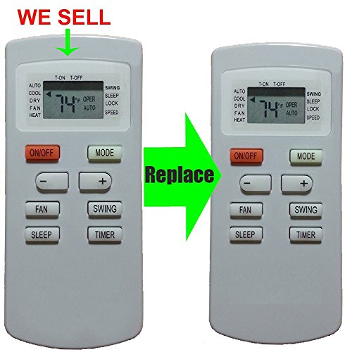 Replacement for AIR-CON Air Conditioner Remote Control YX1FF YX1F Works For ACZEM4C4R18 ACZEM4C4R24 by Generic (Image #5)