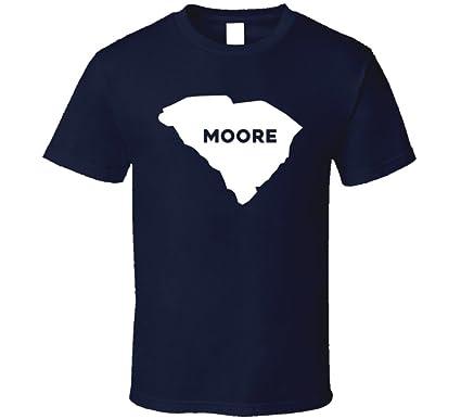 Amazon.com: Moore South Carolina City Map USA Pride T Shirt: Clothing
