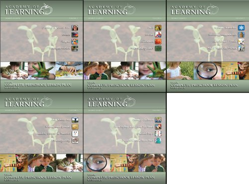 Complete Preschool Lesson Plans (Volumes 1-5)
