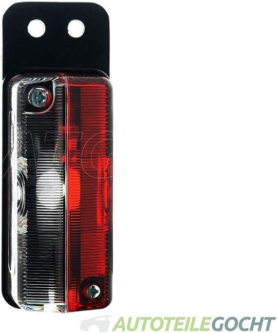 Hella 2xs 005 020 067 Umrissleuchte T4w Lichtscheibenfarbe Glasklar Rot Anbau Einbauort Seitlicher Anbau Auto