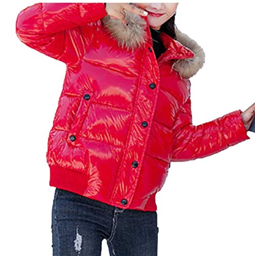 Overcoat TTYLLMAO Down Thickened Women's Warm Coats Down Casual Red Hoodie Jacket x4f8rqY4