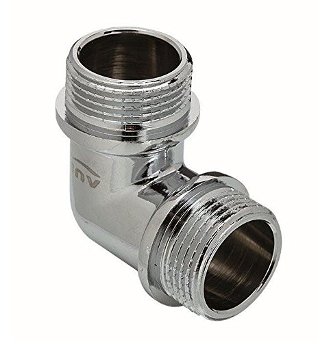 Chrome Plated Brass Male Elbow Pipe Fitting Connection MxM 1/2