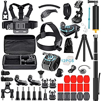 Hero 7 6 5 Neewer 62-in-1 Action Camera Accessory Kit for GoPro Hero 4//5 Session DJI OSMO Action SJ4000//5000//6000//7000 Nikon Sony Sports DV in Swimming Rowing Climbing Bike Riding Camping