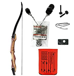 Samick Sage Takedown Recurve Bow Kit by SWA Archery , 25 lb, Right Hand - WITH STRINGERTOOL: Package includes free Orange drink holder!