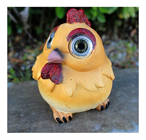 Outdoor Garden Decor Solar Animal Figurine Statue LED Landscape Patio Light (Chicken/Rooster) by Unknown
