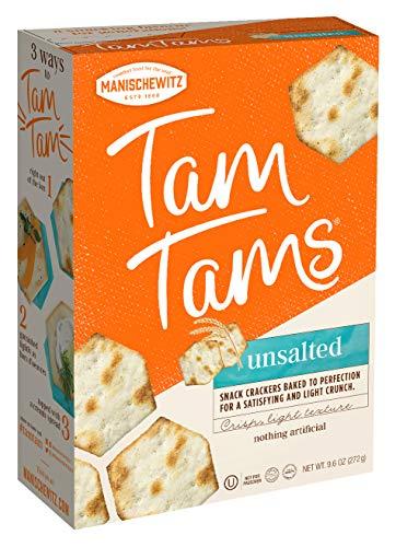 Manischewitz Tam Unsalted - Bonus Pack, 9.6-Ounce Boxes (Pack of 4)