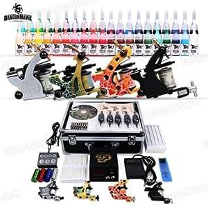 kits de Tatuaje 4 Maquinas 40 tintas tattoo kit completo D139