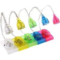 LEDMOMO 5pcs Mini Clip Lámpara de lectura Pinza