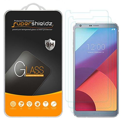 [3-Pack] Supershieldz for LG G6 Tempered Glass Screen Protector, Anti-Scratch, Anti-Fingerprint, Bubble Free, Lifetime Replacement