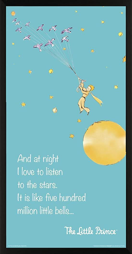 Amazon Com The Little Prince Flying Quote Antoine De Saint Exupery Children S Kids Literary Literature Classic Book Cover Decorative Classroom Art Print Unframed 12x24 Poster Clothing