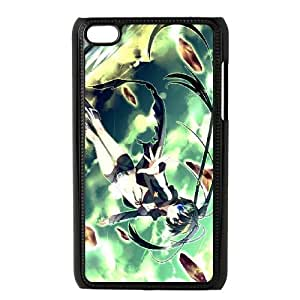 iPod Touch 4 Phone Case Black Black Rock Shooter ZHC2683247