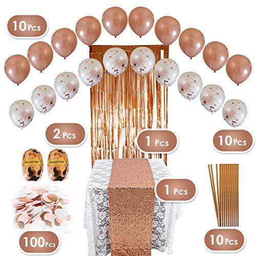 Rose Gold Party Decorations Set - 134 pc