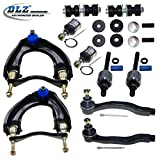DLZ 12 Pcs Front Suspension Kit-2 Upper Control Arm Assembly 2 Lower Ball Joint 2 Inner 2 Outer Tie Rod End 2 Sway Bar 2 Shock Bushing for 1988 1989 1990 1991 Honda Civic CRX