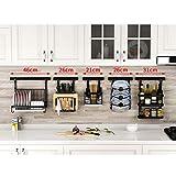 HUO Punch-Free Kitchen Racks Wall-Mounted Folding Dish Rack Knife Holder Seasoning Storage Rack Combination (Color : E)