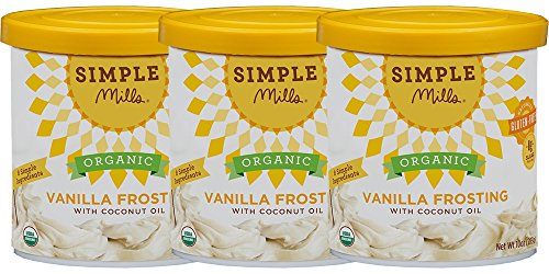Organic Icing - Simple Mills Frosting, Vanilla, Naturally Gluten Free, 10 oz, 3 count