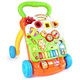 Ybriefbag-Toys Baby Three-in-one Activity Walker Push The Walker 1-2 Years Old Baby Music Adjustable Speed Walker Multi-Function Learning to Walk (Color : Yellow, Size : 384246cm)