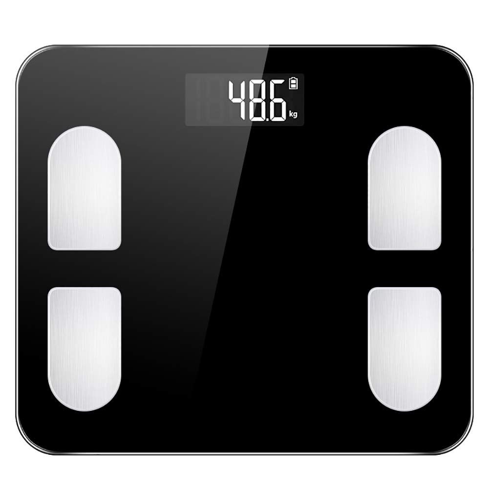 LUOXU Smart Wireless Digital Weight Scale,Digital Weight Bathroom Scales Bluetooth Intelligent Voice Convenient and Fast Suitable for Weight Loss Fitness Tracking,Black