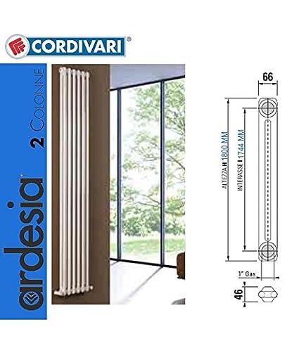 Cordivari pizarra radiador tubular 6 x 1800 9010 blanco.