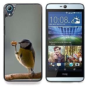 """Divertido lindo pájaro Bailarín invierno dulce"""" - Metal de aluminio y de plástico duro Caja del teléfono - Negro - HTC Desire 626 626w 626d 626g 626G dual sim"""