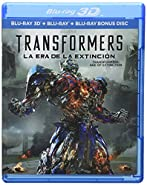 TRANSFORMERS: Age of Extinction (TRANSFORMERS: La Era de la Extinción) BLU-RAY 3D + BLU-RAY + BD BONUS DISC (English, Spanish, French & Portuguese Audio & Subtitles) IMPORT