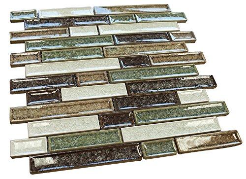 Rose Garden Glossy Crackle Crystal Mosaic Tiles for Bathroom and Kitchen Walls Kitchen Backsplashes