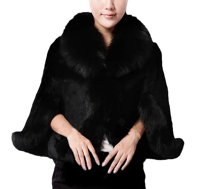 Chal De Piel Mujer Invierno Fashion Espesar Caliente Poncho ...