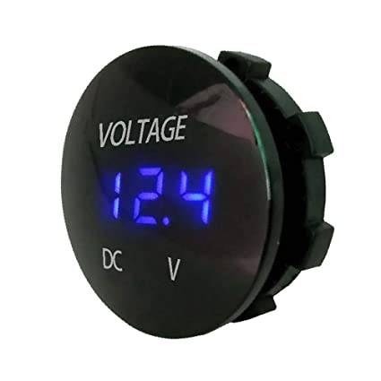 Amazon.com: Vovomay DC 12V-24V LED Panel Digital Voltage Volt Meter Display Voltmeter Motorcycle Car (blue): Home Improvement