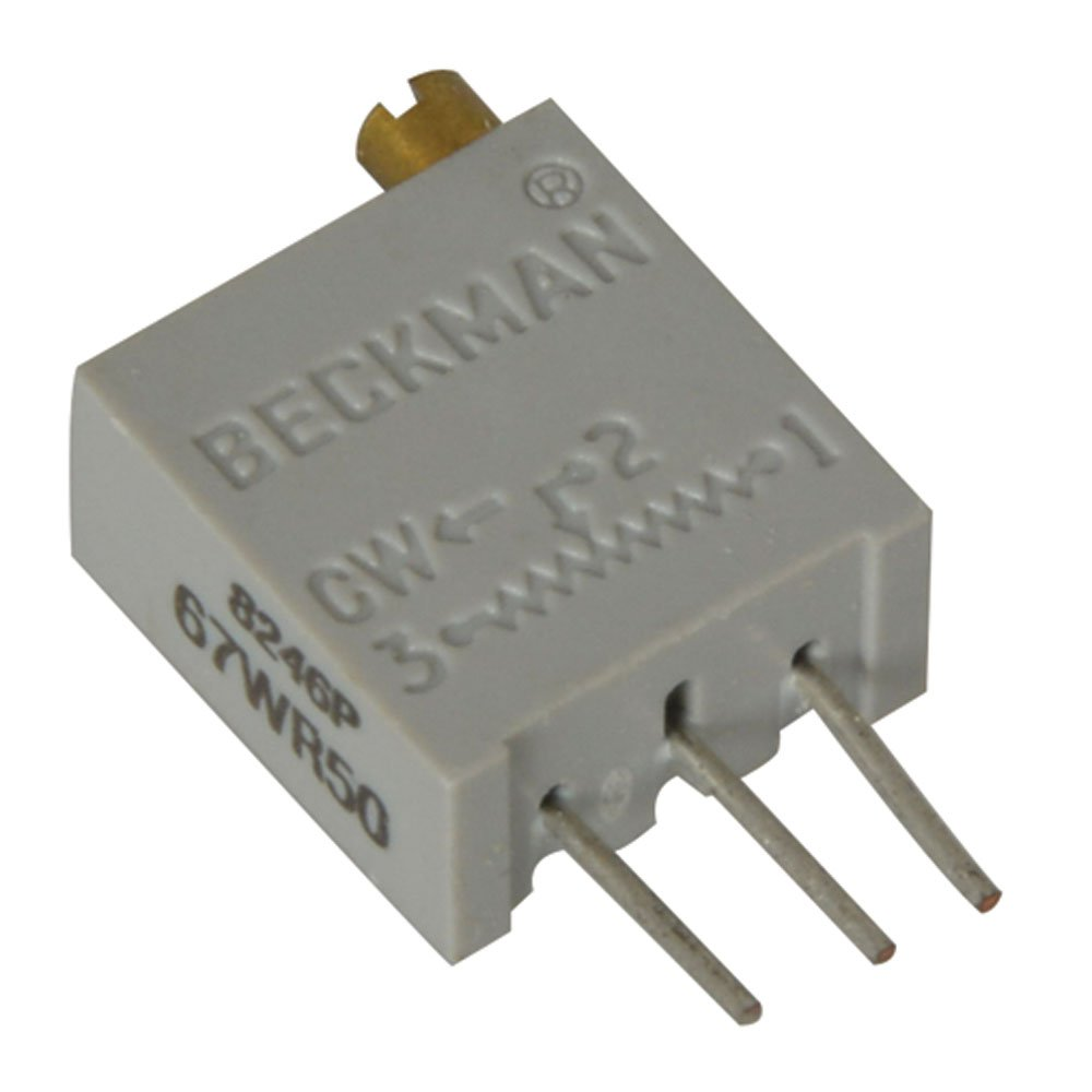 50 Ohm 3//8 Size Pack of 10 20-Turn 3//8 Size Pack of 10 1//4 Watt Arndt 67WR50//3296W-1-500 Square Cermet Potentiometer