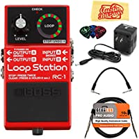 Boss RC-1 Loop Station Bundle with Power Supply,...