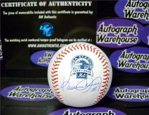 d Ball - Shea Stadium Logo ) - Autographed Baseballs (Autographed Shea Stadium)