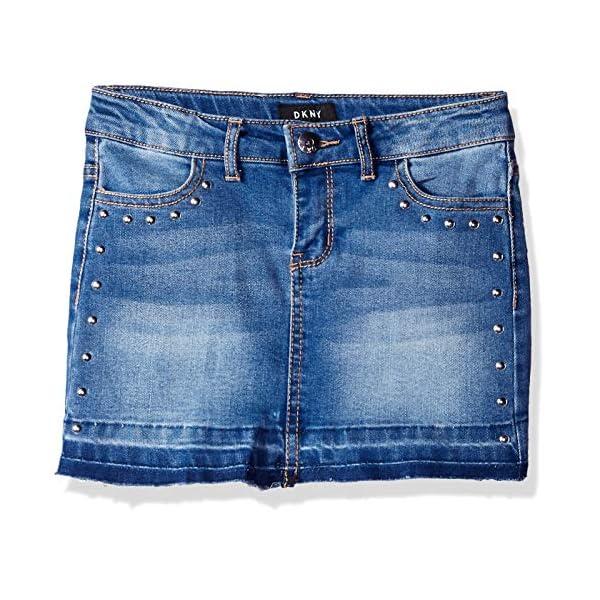 DKNY Girls' Hem and Release Denim Skirt