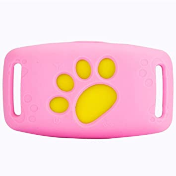 SHIHUIJUAN Mascota Collar Mini Localizador GPS para Perros Perros Y Gatos, Localizador Anti-Perdida Anti-Robo De Dispositivos De Alarma, Ajustable Smart Pet ...