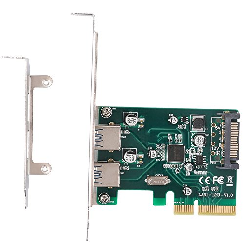 QNINE USB 3.1 PCIe Card Gen 2 (10Gbps), 2 Port PCI Express to USB 3.1 Type A Expansion Card with Low Profile Bracket, PCI-e USB 3 Adapter with 15Pin SATA Power Connector for Desktop PC by QNINE (Image #4)