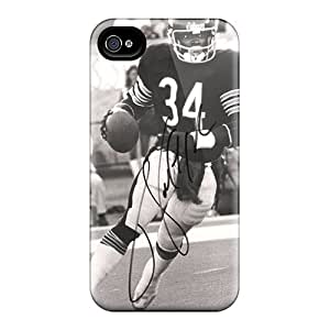 Shock Absorbent Hard Phone Cases For Apple Iphone 4/4s (PFB17833lRrO) Support Personal Customs Realistic Walter Payton Pictures
