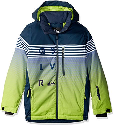 Quiksilver Boys' Big Mission Engineered Youth 10K Snow Jacket, Lime Green Block Volley, ()