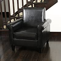 Christopher Knight Home 218716 Freemont Bonded Leather Club Chair, Black
