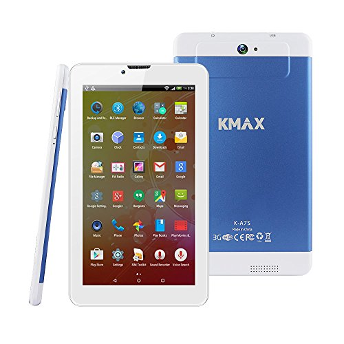ECVILLA KMAX 7 Inch 3G Android Tablet (Quad-core) IPS Display, 16GB, Dual Cameras, WiFi by ECVILLA