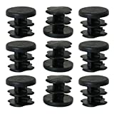 uxcell 1/2'' 0.5'' OD Plastic Tube Inserts Pipe 9pcs, 0.35''-0.43'' Inner Dia, for Furniture Chair Cabinet Leg Fitness Eqpt Caps