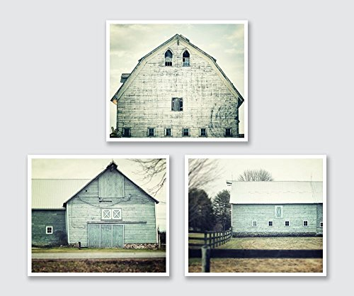 Aqua Farmhouse Barn Print Set 15 Discount Set Of 3 Teal Barn Prints Rustic Home Decor Shabby Chic Barn Art
