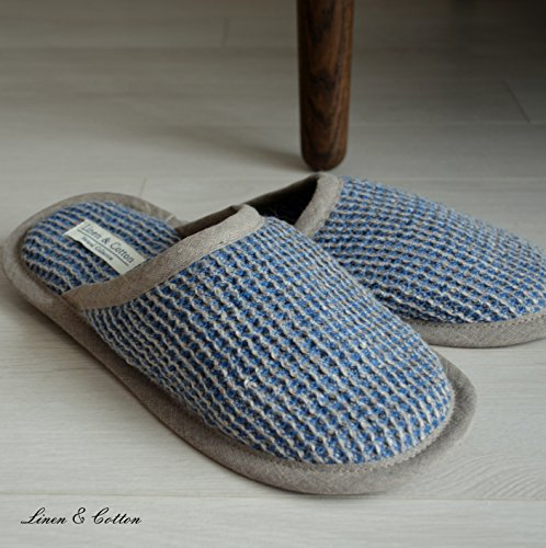 Uomo Donna TIGO Lino Blu Cotton Linen Pantofole 100 amp; q7CxCBwT4